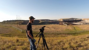Teague shooting a coal mine in Gillette, WY